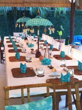 Goddess Retreats: Beautiful setting at every meal
