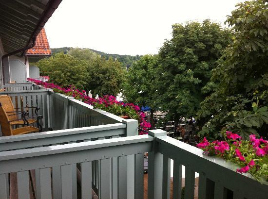Hotel Seehof Herrsching: За деревьями причал - гудки пароходов на любителя