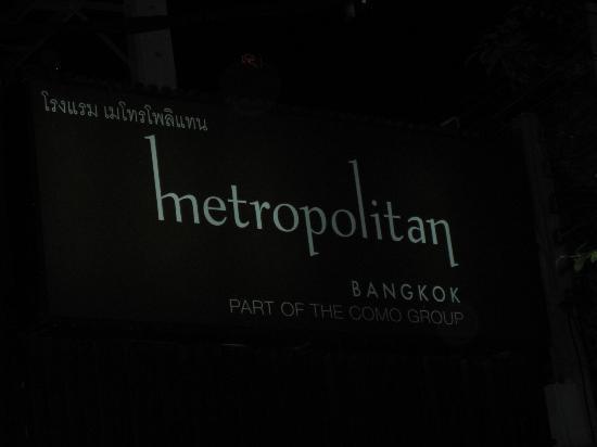 COMO Metropolitan Bangkok: Insegna