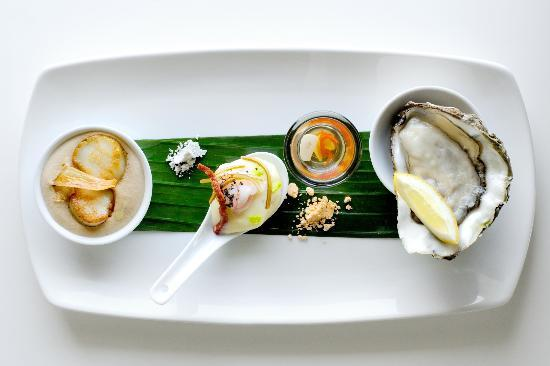 Bedruthan Hotel & Spa: Seafood taster plate from The Herring
