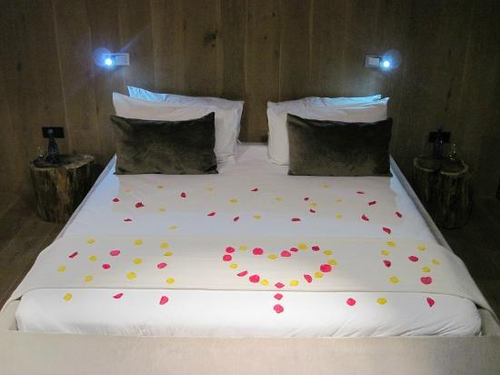 POD Camps Bay: A surprise when we arrived, petals all over the bed