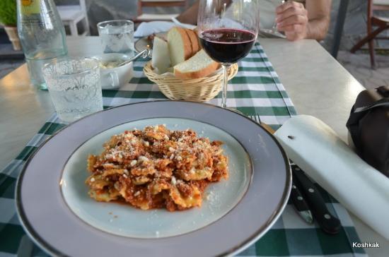 Hotel Monterosso Alto: restaurant - home made ravioli
