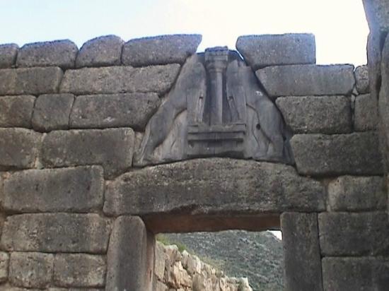 Micene porta dei leoni foto di ancient mycenae mycenae - La porta dei leoni a micene ...
