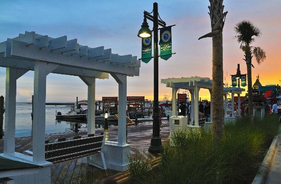 The Destin Harbor Boardwalk.
