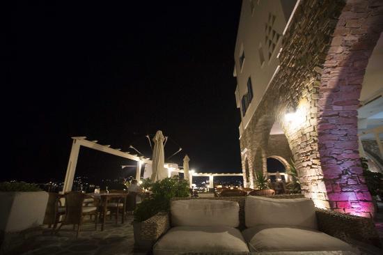 Pandrossos Hotel: terrasse