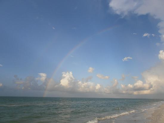 Pointe Santo de Sanibel: Double rainbow