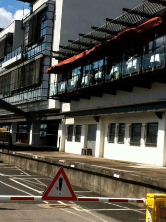 Fischereihafen-Restaurant: outside with the balcony