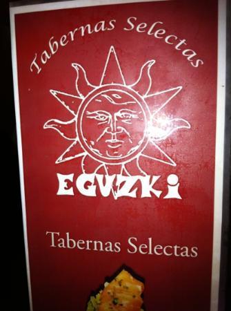Eguzki: carte du restaurant
