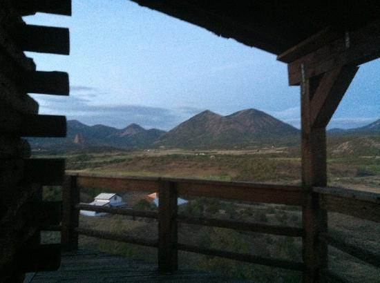 Last Frontier Lodge: View from the side porch..second floor.