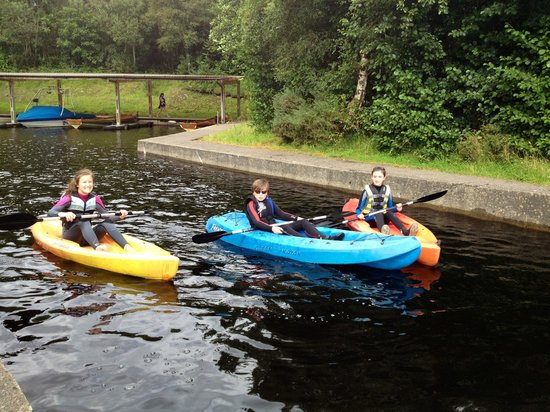 Finn Lough: Having fun in the kayaks
