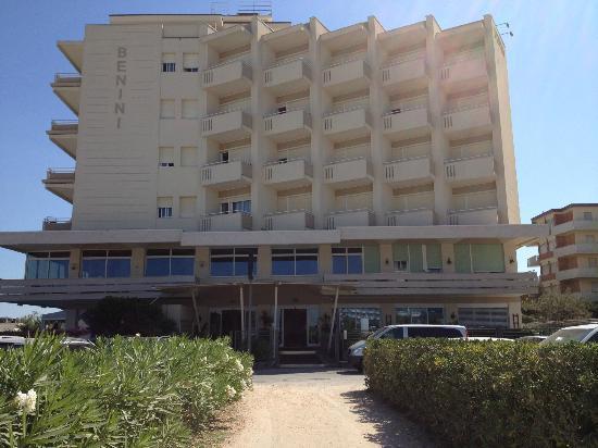 Lato NORD dell'Hotel Benini