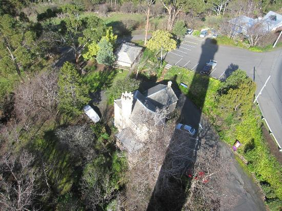Shadow of the Shot Tower from the top.