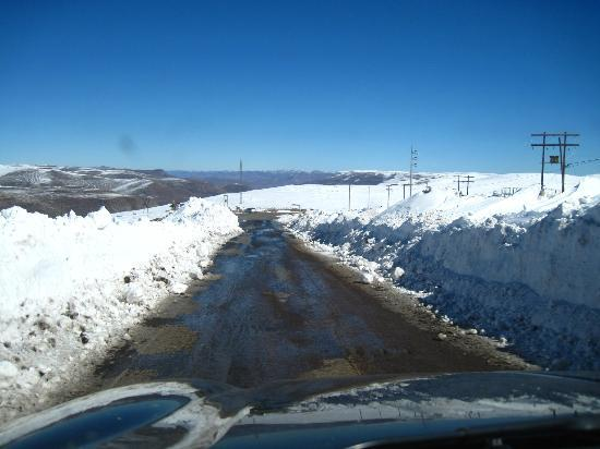 AfriSki Ski and Mountain Resort: on way home, after the pass was scraped by graders