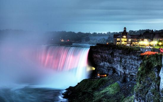 Niagara Falls: The Table Rock centre sits atop the brink of the Horseshoe Falls, providing the perfect view