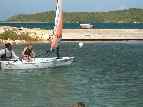 Nonsuch Bay Resort: The best kids sailing instructor I have ever seen.. Barr none!