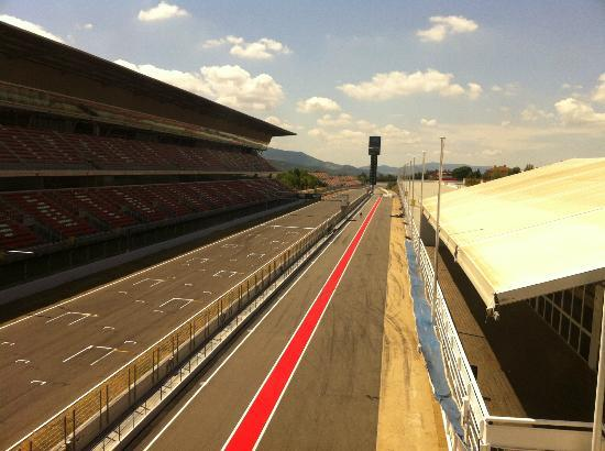 Montmelo, إسبانيا: View from the VIP lounge 
