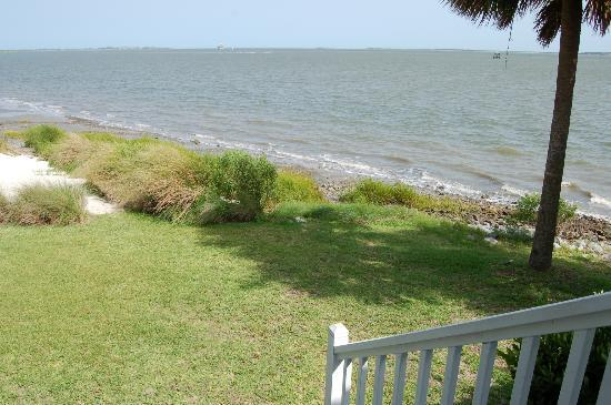 The Cottages on Charleston Harbor: View from balcony