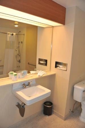 Hampton Inn by Hilton Vancouver Airport: salle de bain chambre accessible
