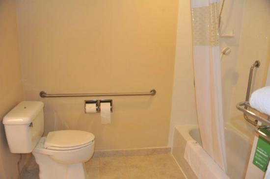 Hampton Inn by Hilton Vancouver Airport: salle de bain accessible