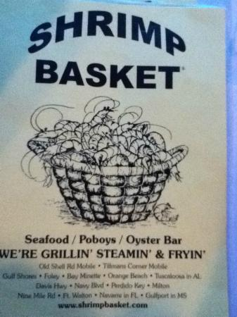 Menu Shrimp Basket Perdido Key, FL