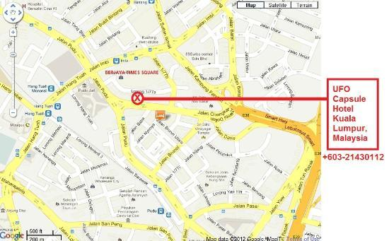 UFO Capsule Hotel: map