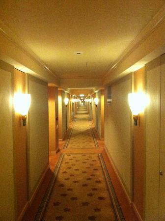Hotel Okura Fukuoka: 客室フロアの廊下