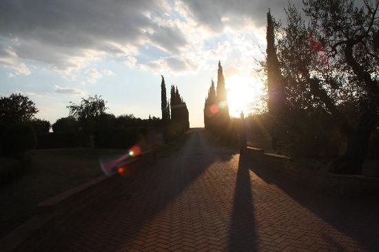Podere del Vescovo: Sonnenuntergang