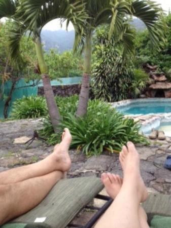 Villas Valle Mistico: Mmmm descansando con la mejor vista!