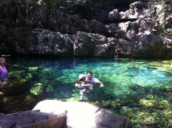 Alto Paraíso de Goiás, GO: Poço Xamã, na Trilha das Loquinhas