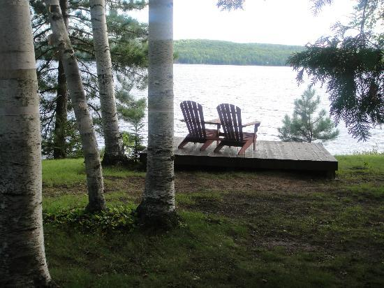 Hay Lake Lodge and Cottages: Lake side deck just for us
