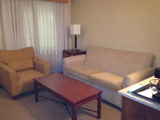 BEST WESTERN PLUS All Suites Inn: Couch/sofabed lounge area