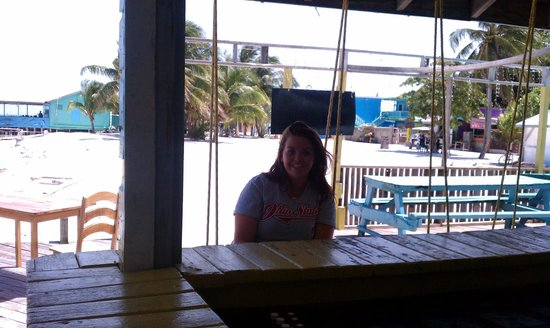 Jolly Roger's Grill & Restaurant : Emma on a swing