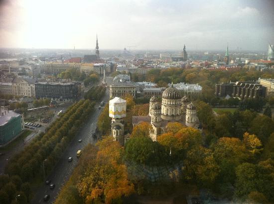 Radisson Blu Latvija Conference & Spa Hotel: Вид из номера,25 этаж