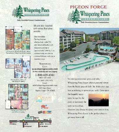 ‪‪Whispering Pines Condominiums‬: Condo Lay-Outs‬