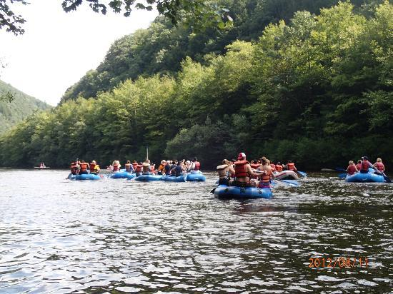 Mauch Chunk Lake Park : We went whitewater rafting nearby one day--great fun!