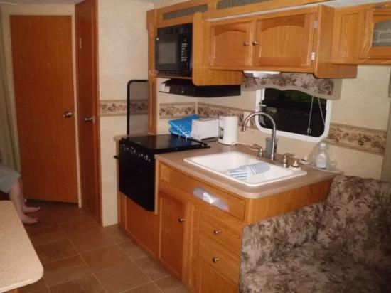 Yogi Bear's Jellystone Park: Kitchen area of RV Rental Site 213