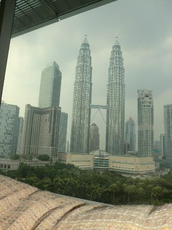 Blick vom Zimmer aus auf die Tower