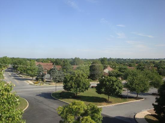 Hampton Inn Lancaster: View from our room. I nice suburban setting.