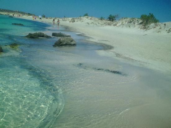 Strand von Elafonissi: scorcio
