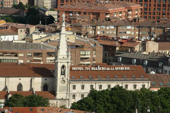 "NH Collection Palacio de Burgos: View on hotel from ""mirador"" on the castle's hill"