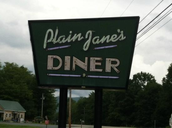 Plain Jane's Diner: Welcoming Sign
