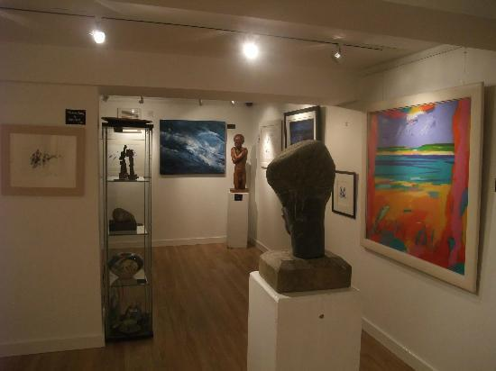 Oscars Wine Bar and Restaurant: Our basement art gallery