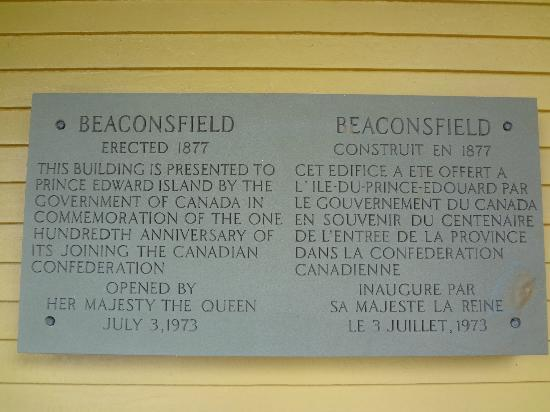 Beaconsfield Historic House: 壁にも説明があります。