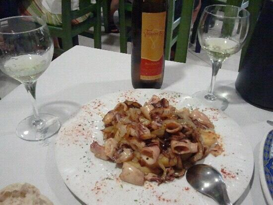 Restaurante O Mar: Chipirones encebollados
