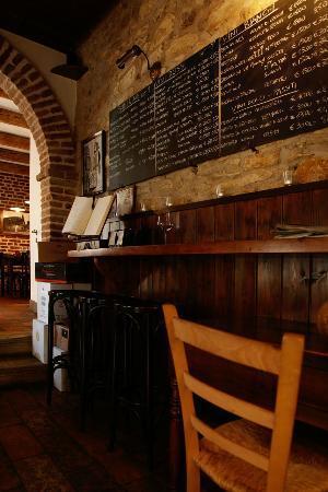 Arqua Petrarca, Italia: la lavagna dei vini