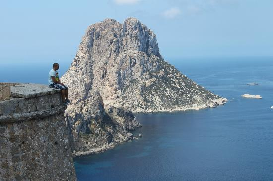 small tower on cliff near es vedra