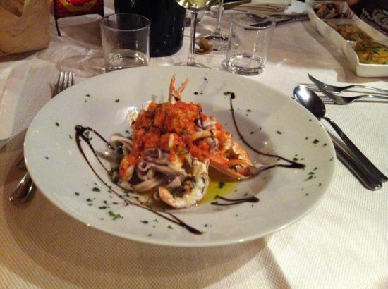 Montemarcello, Италия: insalata di mare