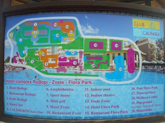 Club Calimera Sunny Beach: Club Calimera map
