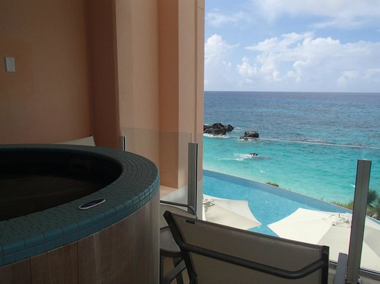 The Reefs:                   Hot tub to pool to ocean