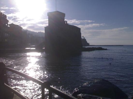 Castello di Rapallo : Castello in controluce
